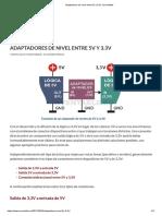 Adaptadores de nivel entre 5V y 3.3V _ Inventable