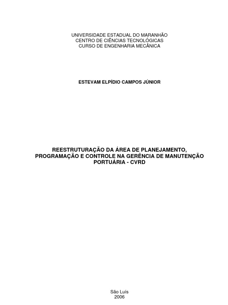 Monografia engenharia mecanica