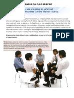 BUSINESS CULTURE BRIEFING - UNIT  7 - MARKET LEADER INTERMEDIATE - CASE STUDY