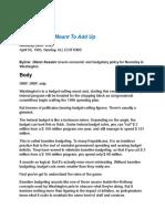 Budget Math article, April 30 1995