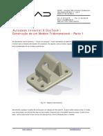 Autodesk Inventor 9 DocTec4 Construção de Um Modelo Tridimensional Parte 1