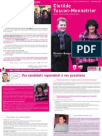 Engagements de Clotilde Tascon-Mennetrier et Damien Bongart