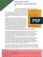 Hackney Action for ESOL - press release