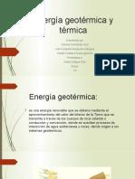 Energía geotérmica y térmica