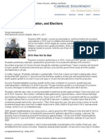 Russia Recovery, Inflation, And Elections