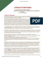 Confessio Fraternitatis Manifesto