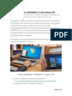 Como Atualizar o Windows 7 e 8.1 Para 10
