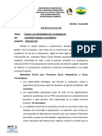 Memorandum Proyecto 2020