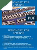 CADENAS DE TRANSMISION