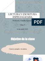 2021Escritura y lectura especializada 5