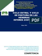 CICLO ESTRAL Y CICLO DE POSTURA EN LAS HEMBRAS DE INTERES ZOOTECNICO