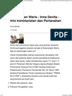 Keterangan Waris - Irma Devita - Info Kenotariatan dan Pertanahan