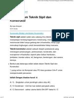 Istilah dalam Teknik Sipil dan Konstruksi