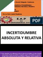 Incertidumbre Absoluto y Relativo(Trabajo 1)