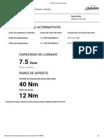 Aceite de motor _ Autodata