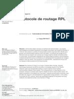 Protocole de routage RPL