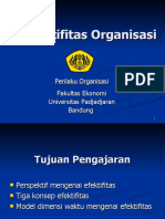 2. Efektifitas organisasi