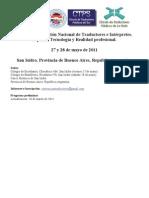Programa Primera Convención (versión 10-03-11)