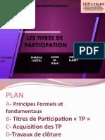 251 Titres de Participation