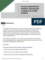 Processo administrativo tributário determinação e exigência do crédito tributário