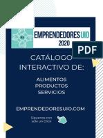 CATÁLOGO PRODUCTOS RED DE EMPRENDEDORES UIO 2020