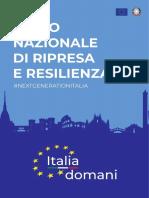 PNRR - Piano nazionale di ripresa e resilienza Italiano Presentato al parlamento il 26-04-2021