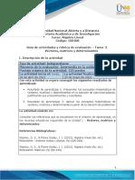 Guía de actividades y rúbrica de evaluación - Unidad 1- Tarea 2 - Vectores, matrices y determinantes