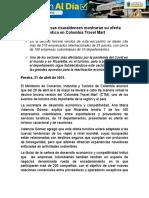 Empresas y prestadores turísticos de Risaralda participan del Colombia Travel Mart