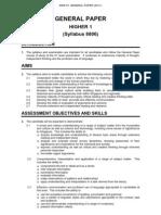 SEAB 8806_2011 H1 GP syllabus