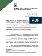 APLICAÇÃO DE FERRAMENTAS DA GESTÃO DA QUALIDADE