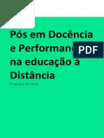 EMENTA - Docência e Performance na educação a Distância.20203