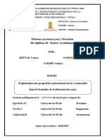 Exploitation Des Propriétés Adsorbantes de La Vermiculite (1)
