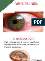 1. Anatomie de l'Appareil Visuel (Dr AOUABED)