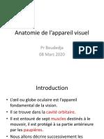 1. Anatomie de l'Appareil Visuel (Pr BOUDEDJA)