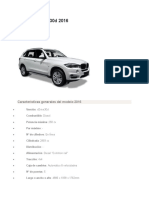 BMW X5 2016 CARACTERISTICAS