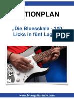PDF Actionplan Die Bluesskala 100 Licks in Fünf Lagen