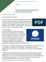 ConJur - Andrade_ Audiências Virtuais Democratizam o Acesso à Justiça
