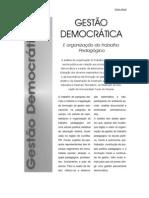 gestão democrática e organização do trabalho pedagógico