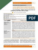 Importância Do Uso de Dispositivos de Proteção Contra Correntes Residuais Em Instalações Elétricas Residenciais