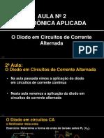 Eletrônica Aplicada Sem01 - Slides Aula 02 - O diodo em circuitos de corrente alternada