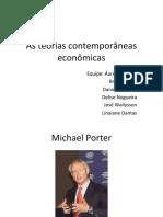 APRESENTAÇÃO - As Teorias Econômicas Contemporâneas