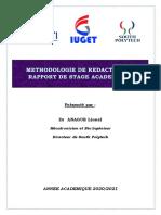 Methodologie de redaction des Rapports de stage BTS