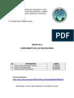 CUMPLIMIENTO DE OBLIGACIONES GRUPO NO.4