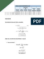 Informe #4 Calculos teorema de torricelli