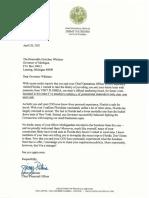 Jimmy Patronis letter to Michigan Gov. Gretchen Whitmer