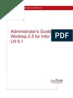 Infor Worktop 25 Administrator's Guide