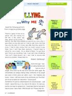 worksheet reading bullying