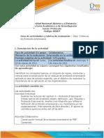 Guia de actividades y Rúbrica de evaluación - Paso  3 Manual de Protocolo empresarial