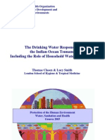 The Drinking Water Response to the Indian Ocean Tsunami