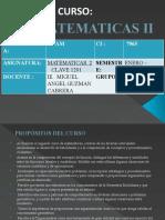 Presentacion_curso Matematicas II